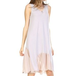 Women Scooped bottom chiffon tunic tank dress